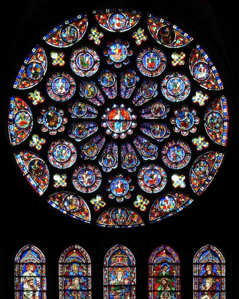 South transept rose Chartres